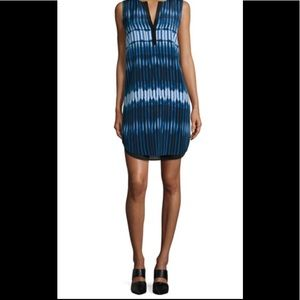 NWT Vince Printed Tie Dye Double Layer Dress